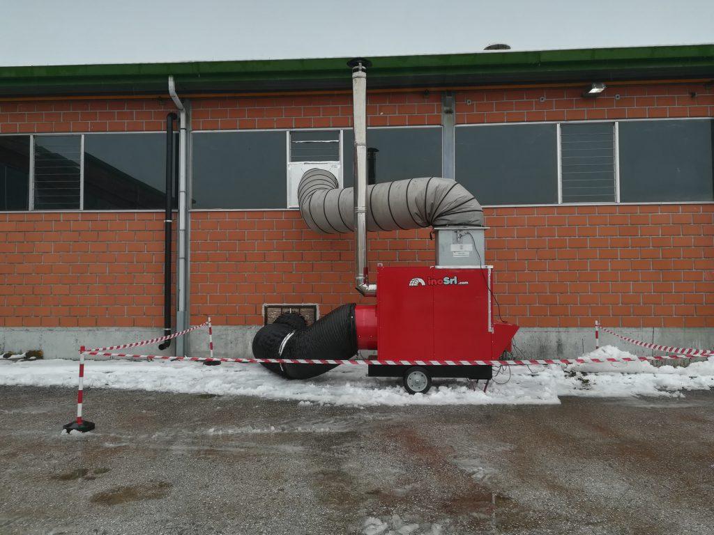 Generatore di calore serie Maxi installato